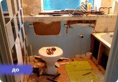 Косметический ремонт ванной комнаты.