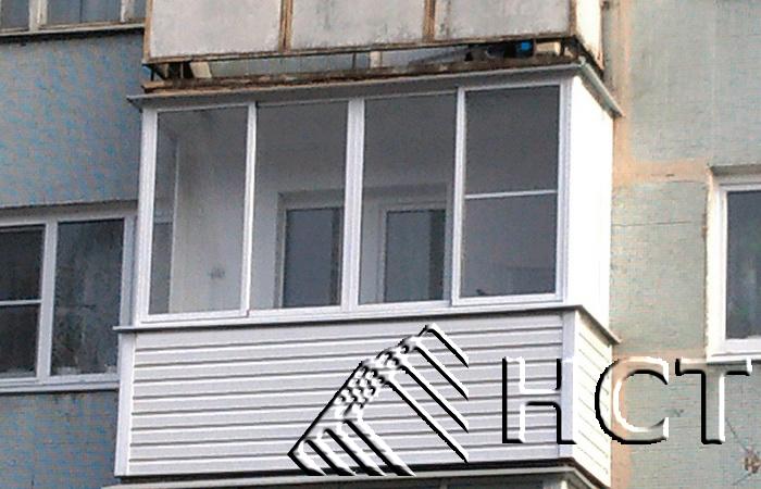 """Остекление балкона панельного дома - цены и фото работ """"груп."""